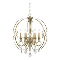 Golden White Gold Ella 6 Light 1 Tier 26in. Wide Chandelier