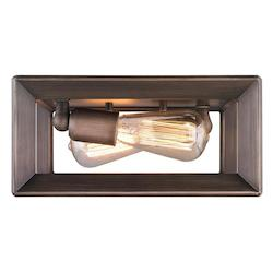 Golden Gunmetal Bronze Smyth 2 Light 11.5in. Wide Flush Mount Ceiling Fixture