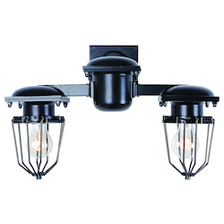 Urban Classic Black Kingston 18in. Wide 2 Light Wall Sconce from the Urban Classics Collection