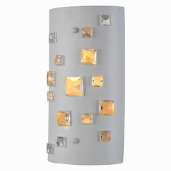 Elegant Lighting 2058 Niagara Collection Wall Lamp L:7In. W:13In. H:3In. Lt:2 White Finish