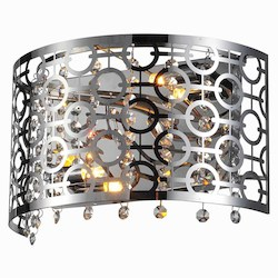 Elegant Lighting 2059 Sterling Collection Wall Lamp L:12In. W:7In. H:6In. Lt:2 Chrome Finis