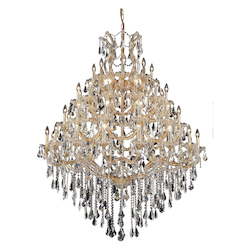 Elegant Lighting Royal Cut Clear Crystal Maria Theresa 49-Light Four-Tier Crystal Chandelier
