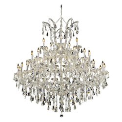 Elegant Lighting Royal Cut Clear Crystal Maria Theresa 41-Light Three-Tier Crystal Chandelier