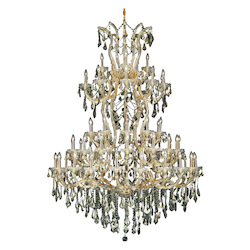 Elegant Lighting Royal Cut Clear Crystal Maria Theresa 61-Light Five-Tier Crystal Chandelier
