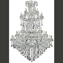 Elegant Lighting Royal Cut Clear Crystal Maria Theresa 85-Light Five-Tier Crystal Chandelier