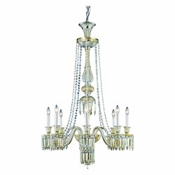 Elegant Lighting Dining Room Chandelier Golden Teak