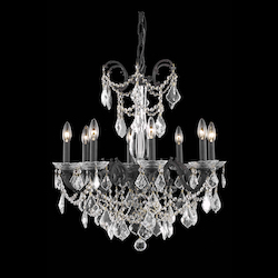 Elegant Lighting Dining Room Chandelier Dark Bronze