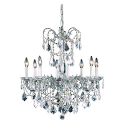 Elegant Lighting Dining Room Chandelier Pewter