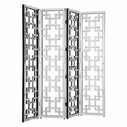 Elegant Decor Clear Mirror 72in. Wide Room Divider from the Modern Collection