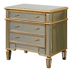 Elegant Decor 3 Drawer Cabinet 30In.X20In.X30In.H Gc