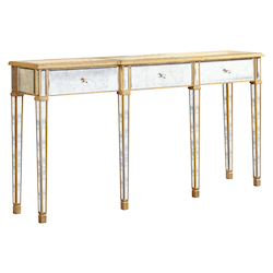 Elegant Decor 3 Drawer Table 70In.X15In.X37In.H Ga