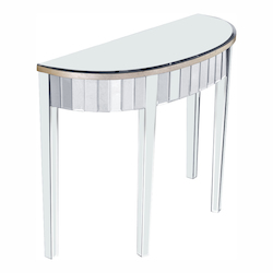 Elegant Decor Curve Front Table 42In.X16In.X30In.H Sc