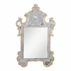 Elegant Decor Gold 31in. Wide Mirror from the Murano Collection