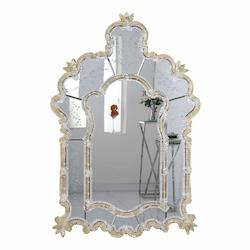 Elegant Decor Gold 33in. Wide Mirror from the Murano Collection