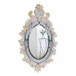 Elegant Decor Gold 22in. Wide Mirror from the Murano Collection