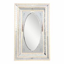 Elegant Decor Gold 35in. Wide Mirror from the Murano Collection