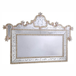 Elegant Decor Silver / Clear Mirror 58in. Wide Mirror from the Murano Collection