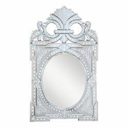 Elegant Decor Clear Mirror 27in. Wide Mirror from the Venetian Collection