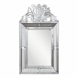 Elegant Decor Clear Mirror 30in. Wide Mirror from the Venetian Collection