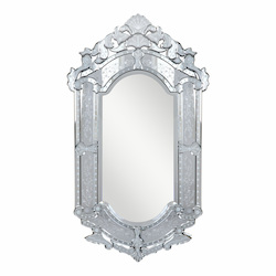 Elegant Decor Clear Mirror 28in. Wide Mirror from the Venetian Collection