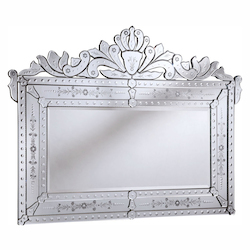 Elegant Decor Silver / Clear Mirror 59in. Wide Mirror from the Venetian Collection