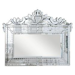 Elegant Decor Clear Mirror 43in. Wide Mirror from the Venetian Collection