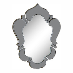 Elegant Decor Grey Mirror 21in. Wide Mirror from the Venetian Collection