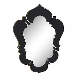 Elegant Decor Black Mirror 21in. Wide Mirror from the Venetian Collection