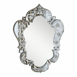 Elegant Decor Clear Mirror 21in. Wide Mirror from the Venetian Collection