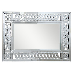 Elegant Decor Clear Mirror 47in. Wide Mirror from the Venetian Collection