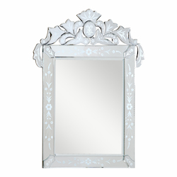 Elegant Decor Silver / Clear Mirror 48in. Wide Mirror from the Venetian Collection