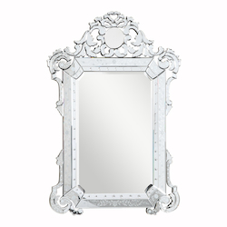 Elegant Decor Clear Mirror 39in. Wide Mirror from the Venetian Collection