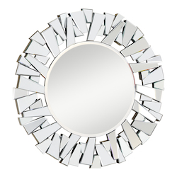Elegant Decor Silver / Clear Mirror 47in. Wide Mirror from the Modern Collection