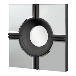 Elegant Decor Black Mirror 24in. Wide Mirror from the Modern Collection