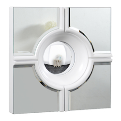 Elegant Decor Mirror 24In.X2.75In.X24In.H Wh