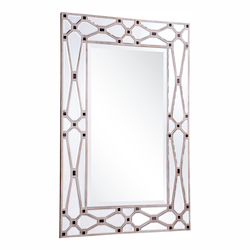 Elegant Decor Clear Mirror 47in. Wide Mirror from the Modern Collection