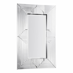 Elegant Decor Clear Mirror 58in. Wide Mirror from the Modern Collection