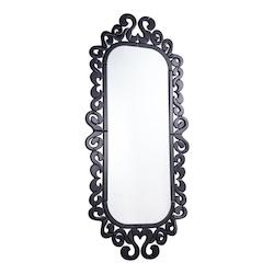 Elegant Decor Clear Mirror 59-1/10in. x 27-3/10in. Wall Mirror from the Modern Collection