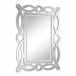 Elegant Decor Clear Mirror 28in. Wide Mirror from the Modern Collection