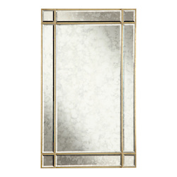 Elegant Decor Gold / Antique Mirror 22in. Wide Mirror from the Florentine Collection