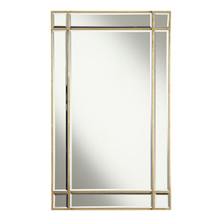 Elegant Decor Rectangular Mirror 22In.X0.75In.X36In.H Gc