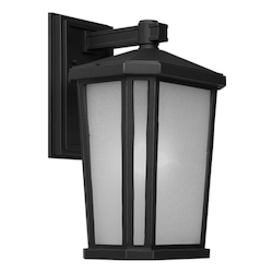 Artcraft One Light Oil Rubbed Bronze Interior-White, Outer-Etched Glass Wall Lantern