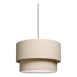 Artcraft Mercer Street 3 Light  Oatmeal Chandelier