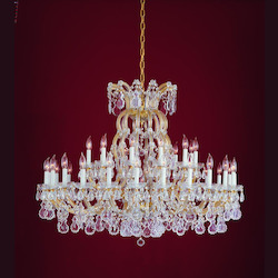 Crystorama Gold / Clear Swarovski Maria Theresa 37 Light Two Tier Adjustable Chandelier