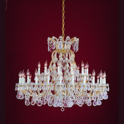 Crystorama Gold / Clear Spectra Maria Theresa 37 Light Two Tier Adjustable Chandelier