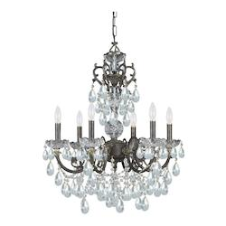 Crystorama English Bronze Legacy 6 Light Chandelier