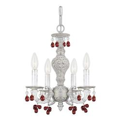 Crystorama Hang Antique White Amber Crystal H13 1/2In. H15In. 4-60W