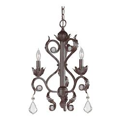 Crystorama Dark Rust Winslow 3 Light Single Tier Chandelier