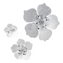 Cyan Designs Oyster Silver Violet Wall Flower