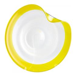 Cyan Designs Yellow And Clear Cosmic 21.25 Inch Wide Glass Decorative Plate